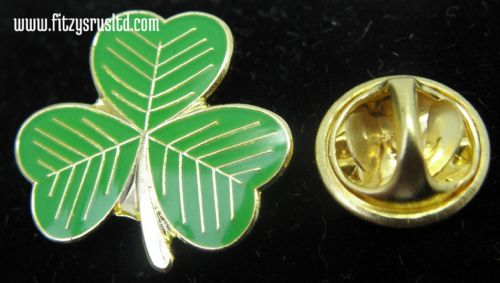Irish Shamrock Lapel Hat Tie Cap Pin Badge - Symbol of Ireland Eire Gaelic New